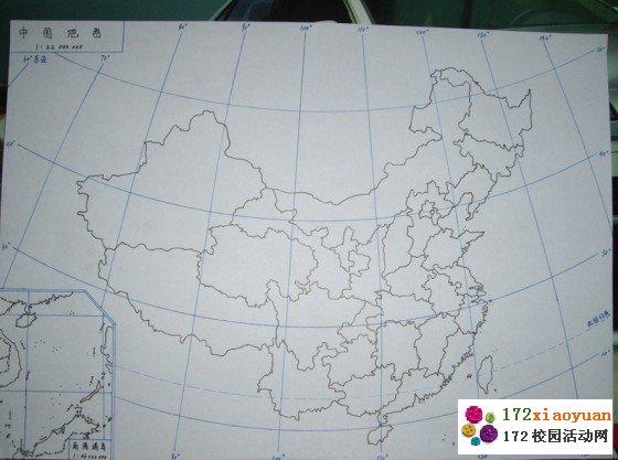 参赛者手绘中国地图轮廓,限时3