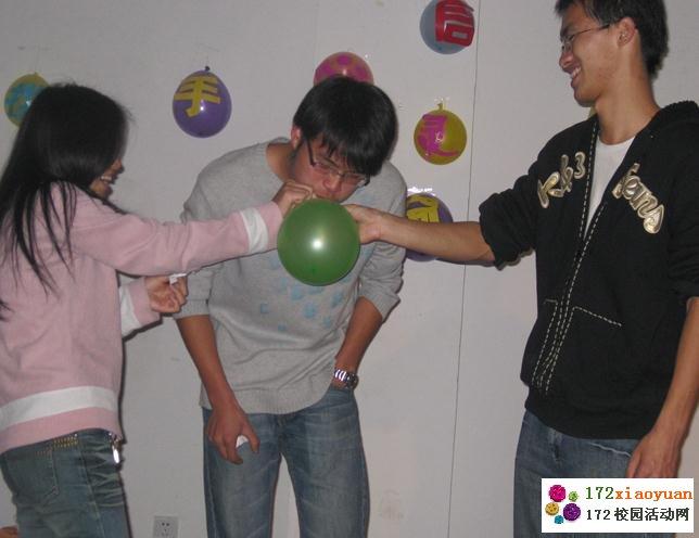 合力吹气球