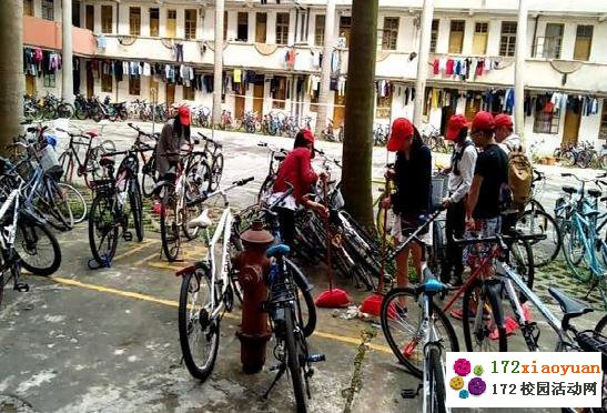 种下阳光,温暖大家—整理自行车志愿活动